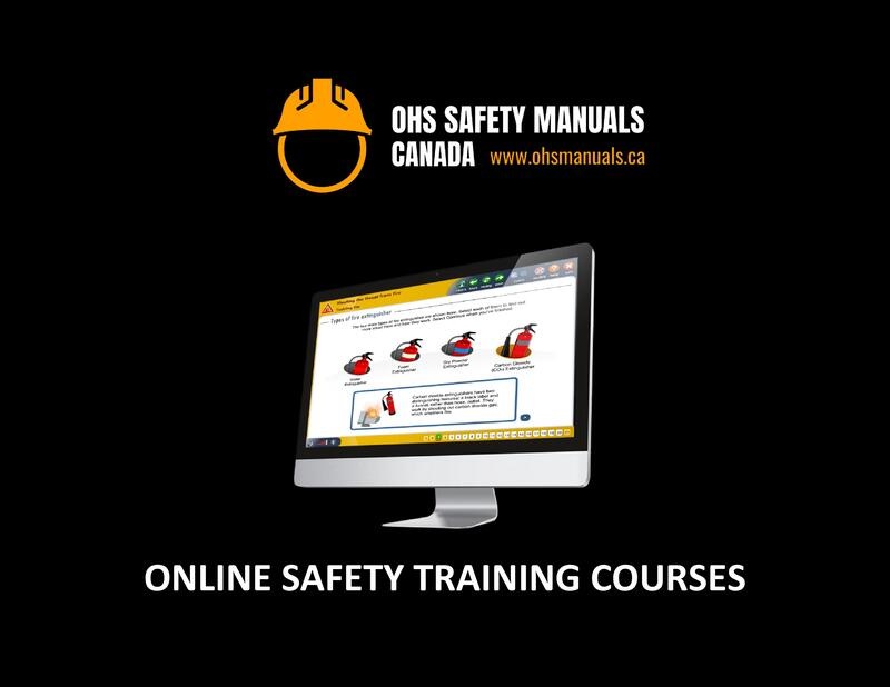occupational health and safety programs manuals templates online safety training courses bc british columbia alberta manitoba saskatchewan ontario nova scotia new brunswick quebec newfoundland canada