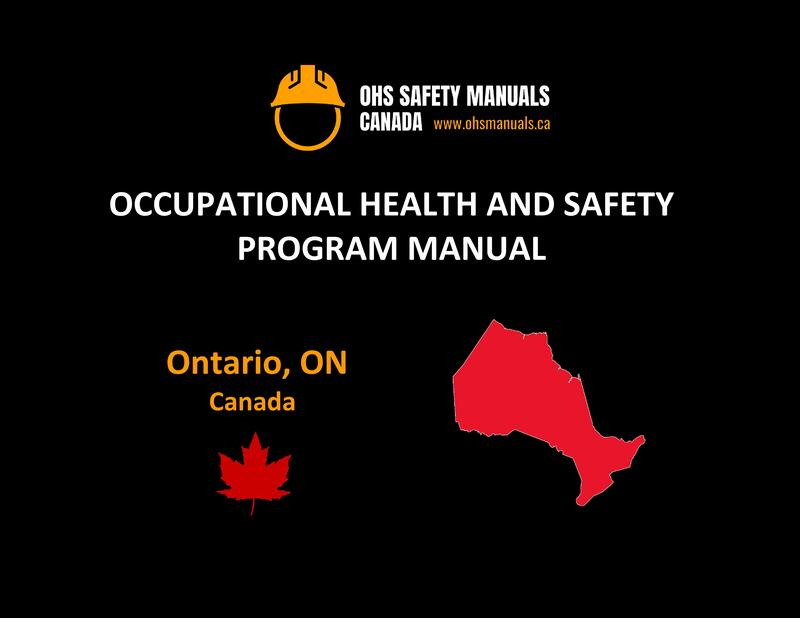 small large business workplace occupational health and safety program manual plan template free sample policy checklist procedure act ohs worksafe ministry labour code regulations toronto ottawa ontario canada
