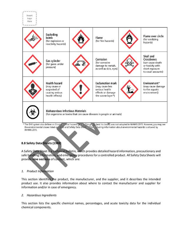 occupational health and safety program manual plan template free sample policy checklist procedure act ohs worksafebc regulations vancouver victoria british columbia bc canada