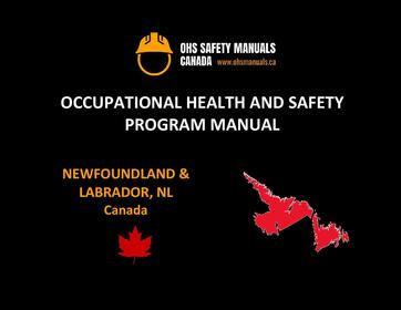 small large business workplace occupational health and safety program manual plan template free sample policy checklist procedure act ohs worksafe safework ministry labour code regulations st. john's newfoundland labrador nl Canada
