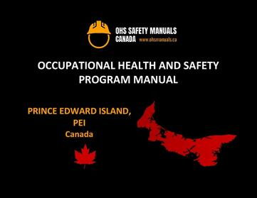 small large business workplace occupational health and safety program manual plan template free sample policy checklist procedure act ohs worksafe safework ministry labour code regulations charlottetown prince edward island pei Canada